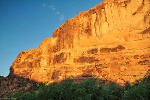 Arches Nationalpark Stein Fels Wand Sonnenaufgang
