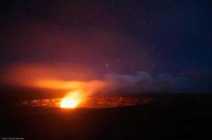 Kilauea Magmakammer Vulkan Schein Hawaii glühend