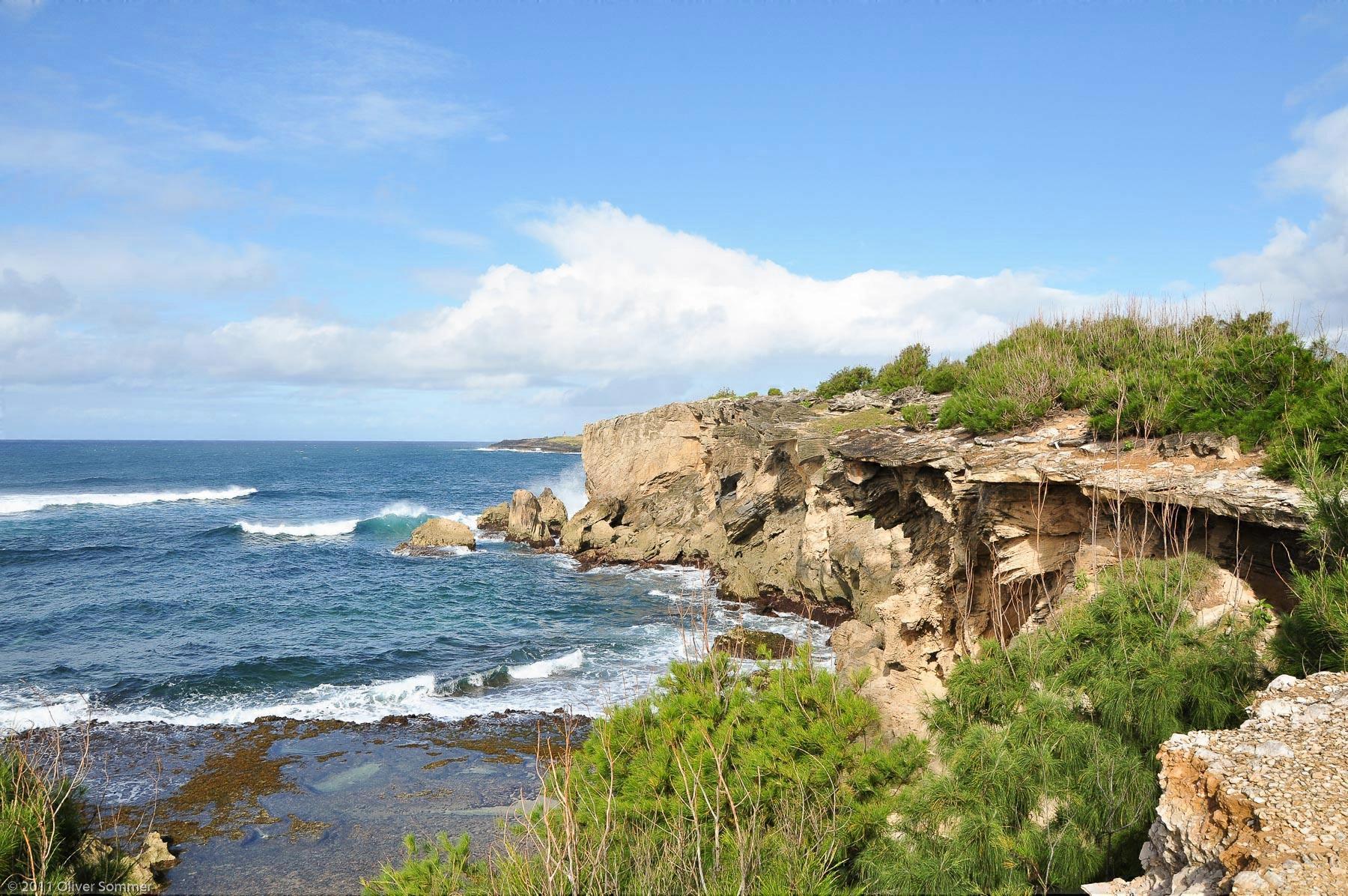 Versteinerte Makewehi Klippenküste Kauai Hawaii
