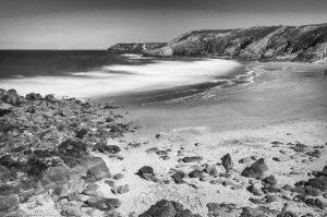Küste Sand milchig Wasser Strand Meer