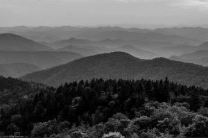 Nebel Smoky Mountains Landschaft Berge Wald