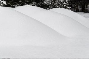 Schnee Welle Form weiß winter