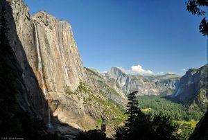 Wasserfall Yosemite Falls Nationalpark half dome