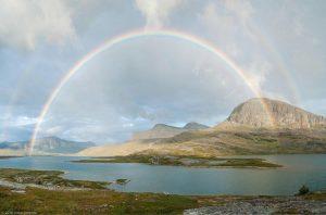 Kungsleden Lappland Schweden Alesjaure Regenbogen komplett