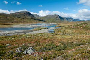 Kungsleden Lappland Schweden Fluss Berg Landschaft