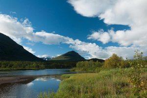 Kungsleden Lappland Schweden Abiskojaure Berg